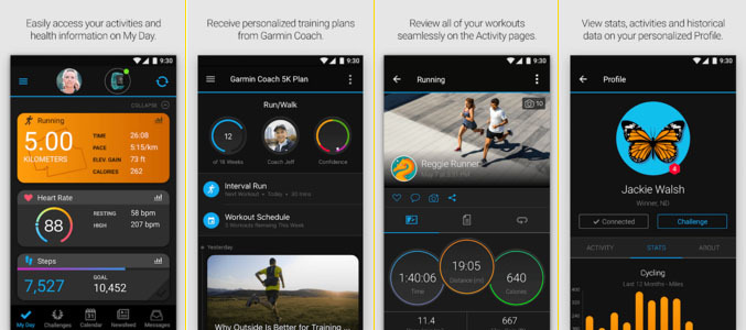 Garmin Connect Fitness Tracking App
