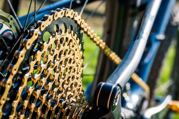 Gears are on a mountain bike