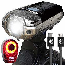 BLITZU Gator 390 USB Rechargeable Bike Light Set