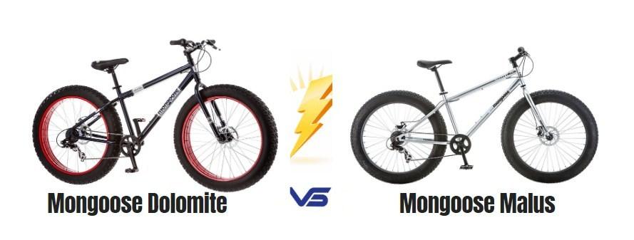 Mongoose Dolomite vs Malus Mens Fat Tire Mountain Bike